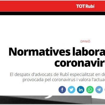 advocats rubi erte coronavirus